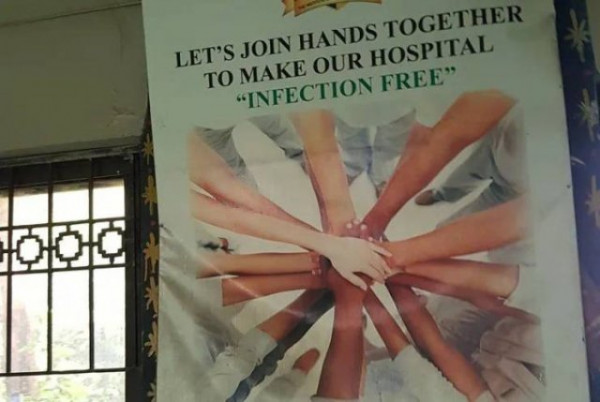 "join hands to make our hospital ""infection free"""